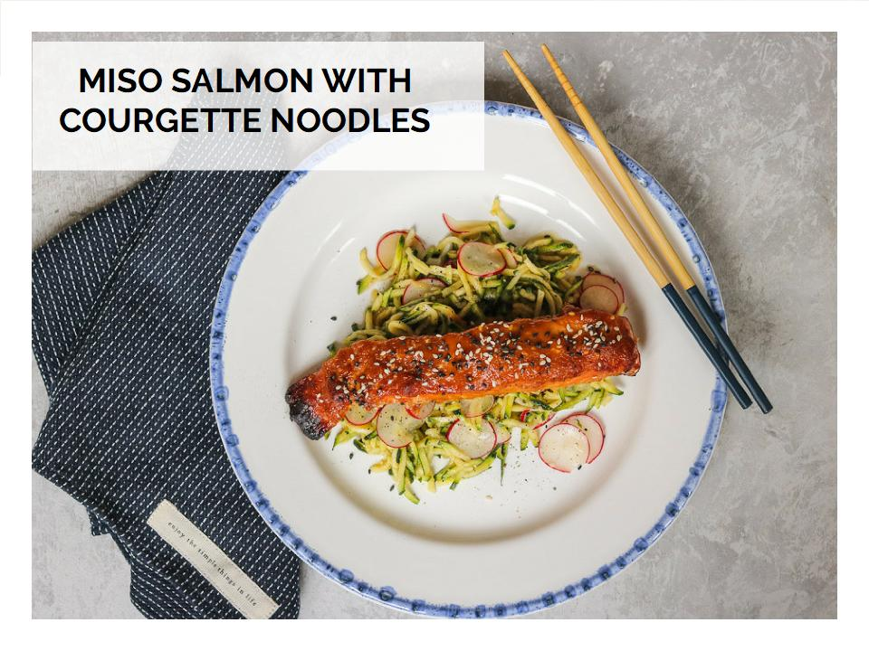 Miso Salmon With Courgette Noodles